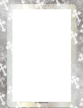 image regarding Religious Cross Template Printable named Christian Cross Border