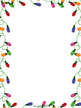 christmas page borders for microsoft word free  Christmas Lights Christmas Border