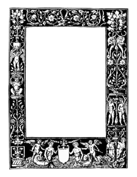 Classical BW Border page border