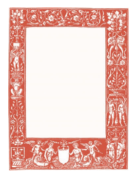Classical Red Border page border