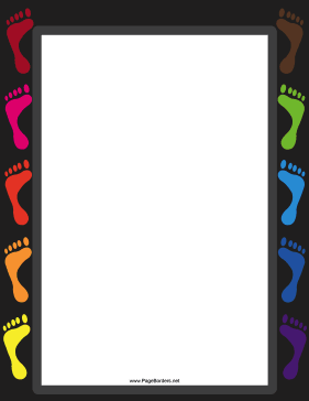 Color Footprint Border page border