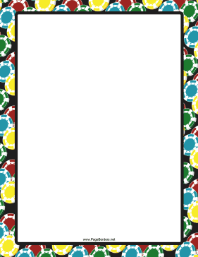 Colorful Discs Border page border