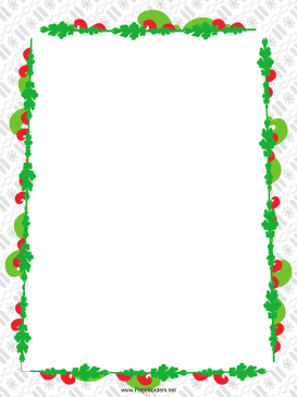 Colorful Garland Christmas Border page border