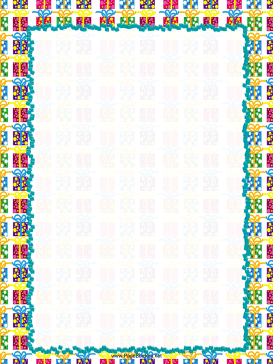 Colorful Gifts Party Border page border