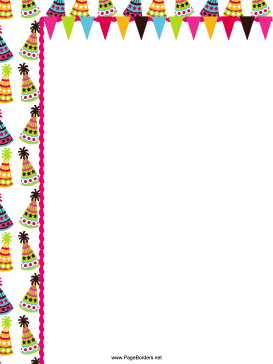 Colorful Hats Party Border page border