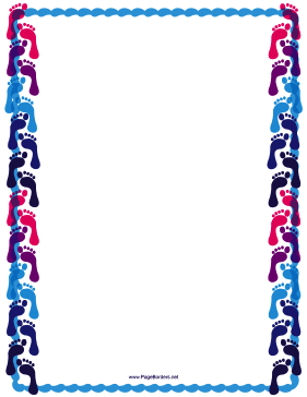 Cool Footprint Border page border
