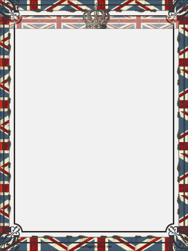 Crown and Union Jack British Border page border