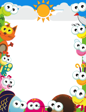 Cute Afternoon Border page border