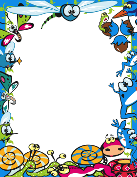 Cute Bug Border page border