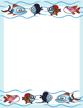 Cute Fish Border page border