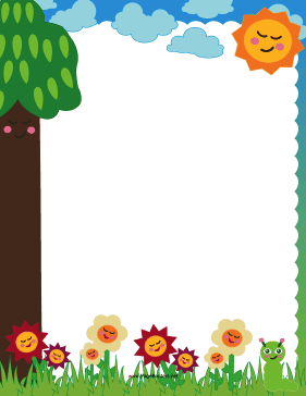 Cute Nature Border page border