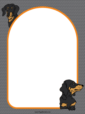 Dachshund Dog Border page border
