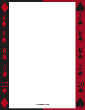 Deck of Cards Border page border