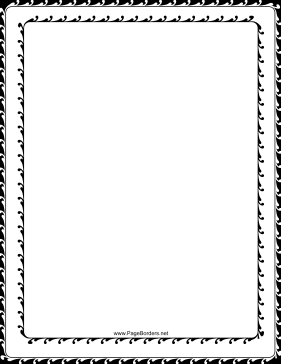 Decorated Black and White Border page border