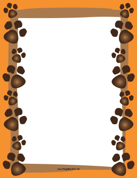 Dog Paw Print Border page border