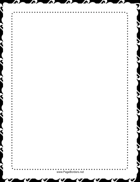 Dots — Black and White Border page border