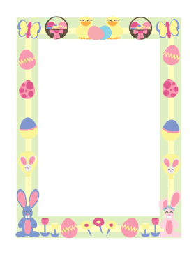 Easter Border page border