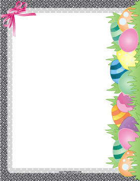 Easter Egg Hunt Border page border