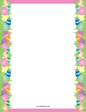 Easter Egg Purple Border Page