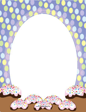 Easter Frosted Treats page border