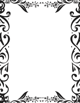 Fancy Berry Border page border