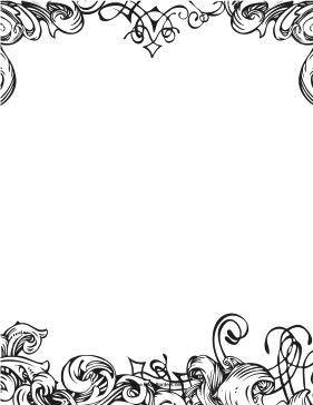 Fancy Black And White Border