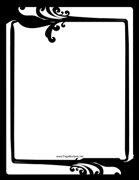 Fancy — Black and White Border page border