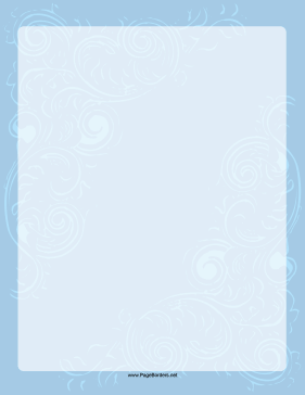 Fancy Blue Wave Border page border