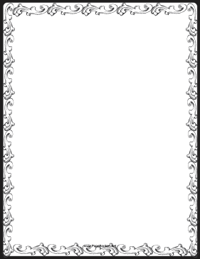 picture relating to Free Printable Border Paper named Printable Web page Borders
