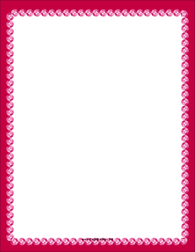 Fancy Pink Border page border