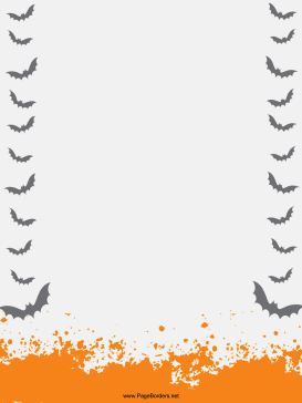 Flying Bats Halloween Border page border