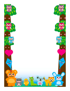 Forest Friends Border page border