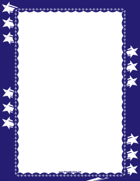 Fourth of July Sparkler Border page border