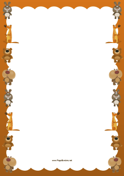 Fuzzy Animals Border page border