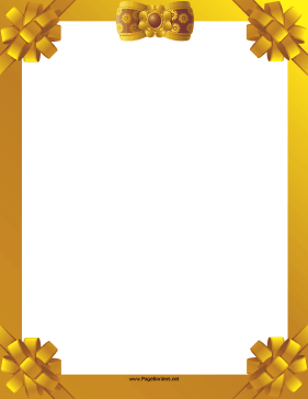 Gold Ribbon Border page border