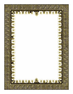 Gold and Black Border page border