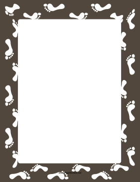 Gray Footprint Border page border