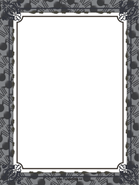 Gray Halloween Border page border