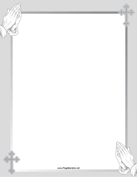 Gray Prayer Border page border