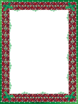 Green Bows Christmas Border page border