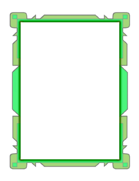 Green Flowpoint Border page border