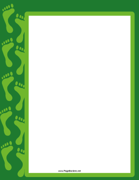 Green Footprint Border page border