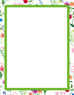 Green Hand-Drawn Border page border