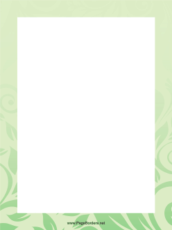 Green Leaves Border page border