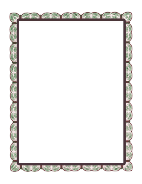Green Red Lace Border page border