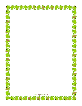 Green Teacups Border page border