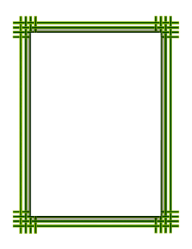 Green Weave Border page border