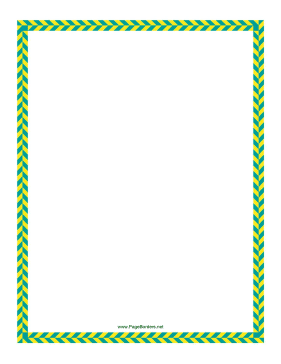 Green Yellow Diagonal Border page border