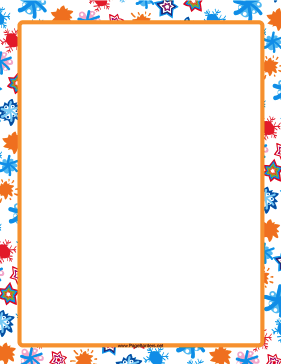 Hand-Drawn Orange Border page border