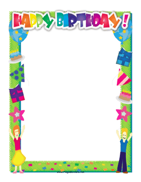 Happy Birthday Border page border